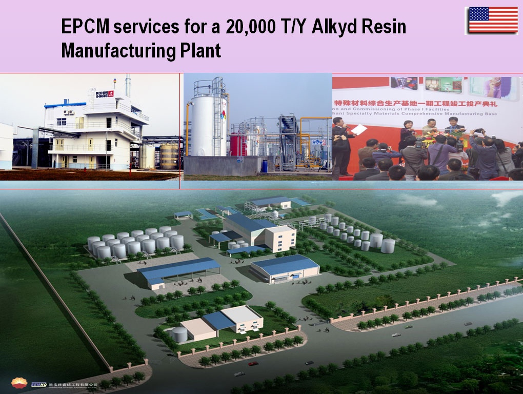 EPCM services for a 20,000 T/Y Alkyd Resin Manufacturing Plant